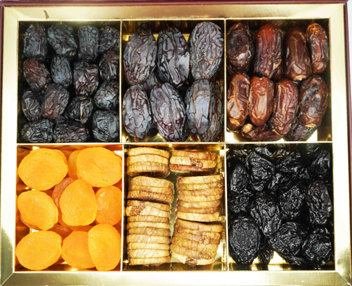 Picture of NutsArabia Large Gift Box with 3 Dates & 3 Dried Fruits