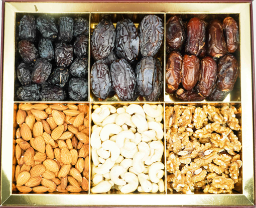 Picture of NutsArabia Large Gift Box with 3 Dates & 3 Raw Nuts