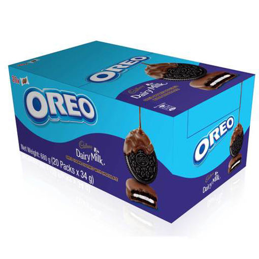 Picture of Oreo Cookies Chocolate Coated 20x34g