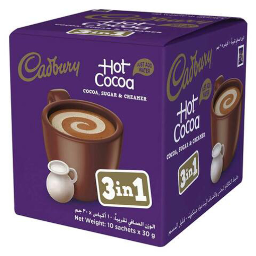 Picture of Cadbury Hot Cocoa 3in 1 Sachets 10x30g