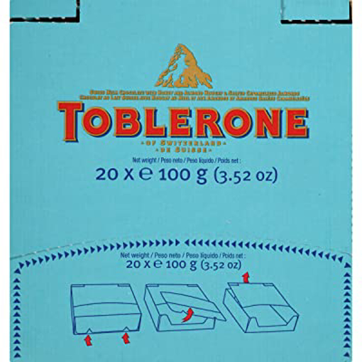 Picture of Toblerone Crunchy Almonds Chocolate 20x100g