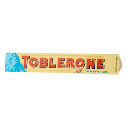 Picture of Toblerone Crunchy Almonds Chocolate 100g